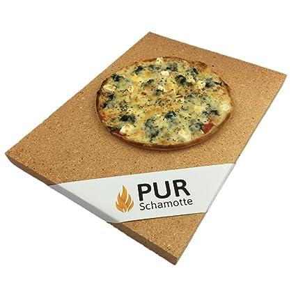 "Pizza piedra ""Pur Chamota 400 x 300 x 20 mm – Apto para"