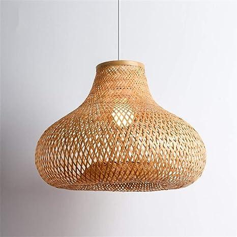 Lámparas de araña, 40 cm de mano de bambú de mimbre Rattan ...