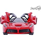 smartcraft Plastic Remote Controlled Racing R/c Luxury Car with Opening Doors (Multicolour)