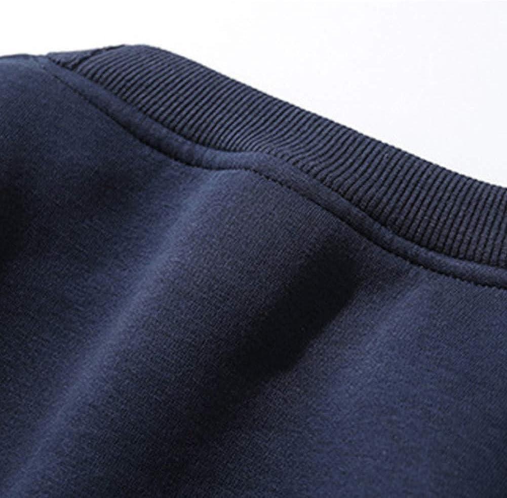 NANWEIYI Sweat-Shirt Automne Hiver Hommes Sweats À Capuche Hip Hop Streetwear Casual Sportswear Sweatshirts À Col Rond Dark Blue 6