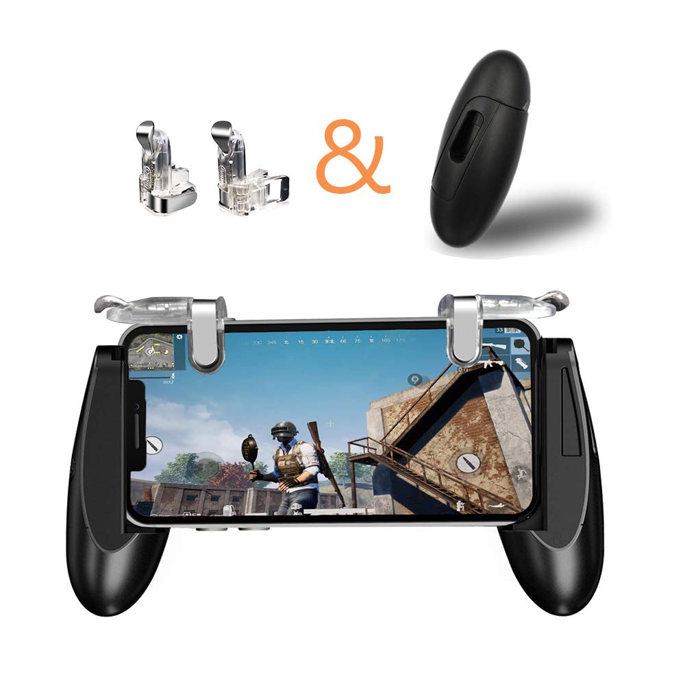 Mobile Game Controller Clawl1r1 Mobile Phone Game Controller Joystick Triggers Game Holder Fire Button Adjustable Clip Game Grip