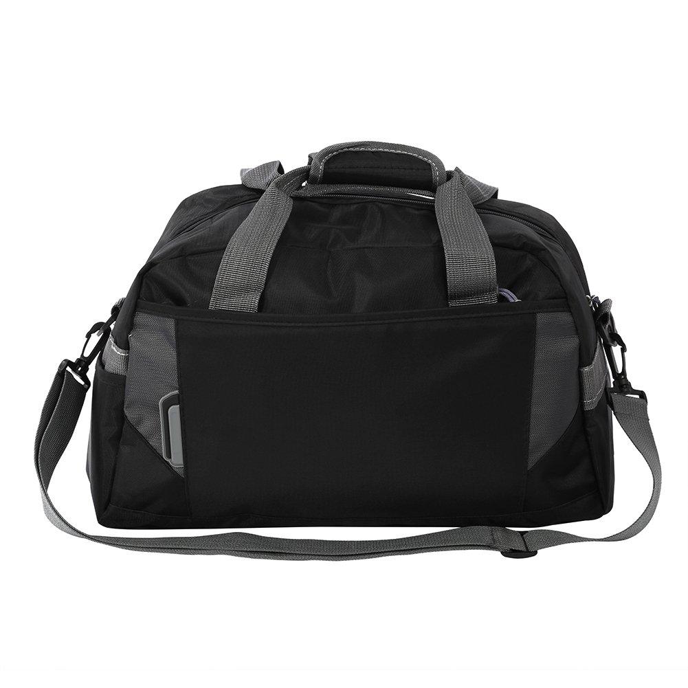 トレーニングダッフルバッグ、スポーツジム旅行ワークアウトLuggageハンドバッグ B07B4Z74PZ  ブラック