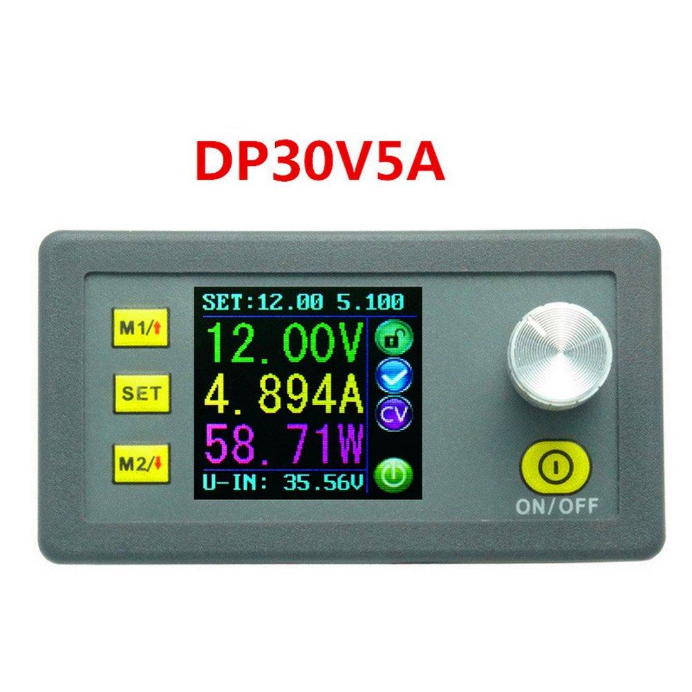 Rokoo, modulo step-down di alimentazione tensione costante DP30V5A, programmabile, con voltmetro e amperometro integrati e display 111598