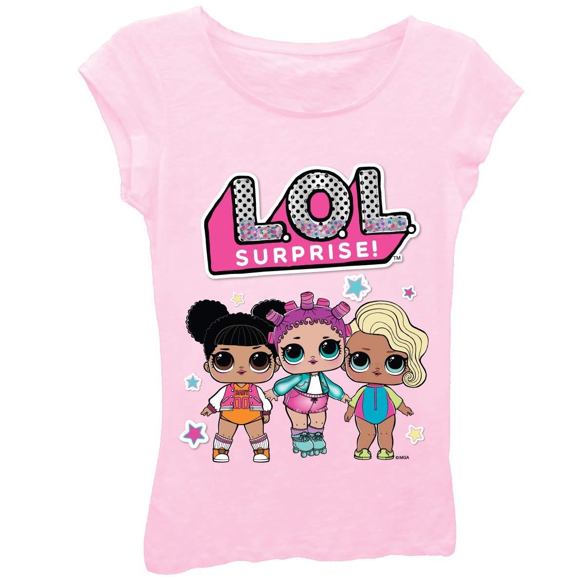 34c82687 Amazon.com: L.O.L. Surprise! Girls Toy Shirt - LOL Surprise Tee - Lil  Outrageous Littles T-Shirt: Clothing