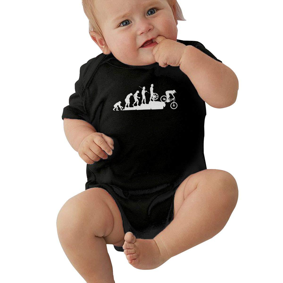 Mountain Bike Downhill Infant Baby Girl Boy Bodysuit Jumpsuit Short Sleeve Bodysuit Tops Clothes