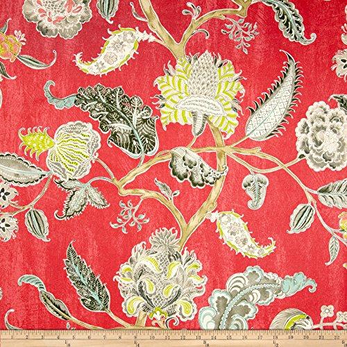 - WAVERLY Asian Myth Twill Fabric, Radish