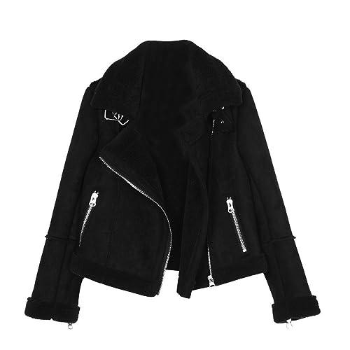El corto invierno, piel adelgazar abrigo chaqueta de mujer