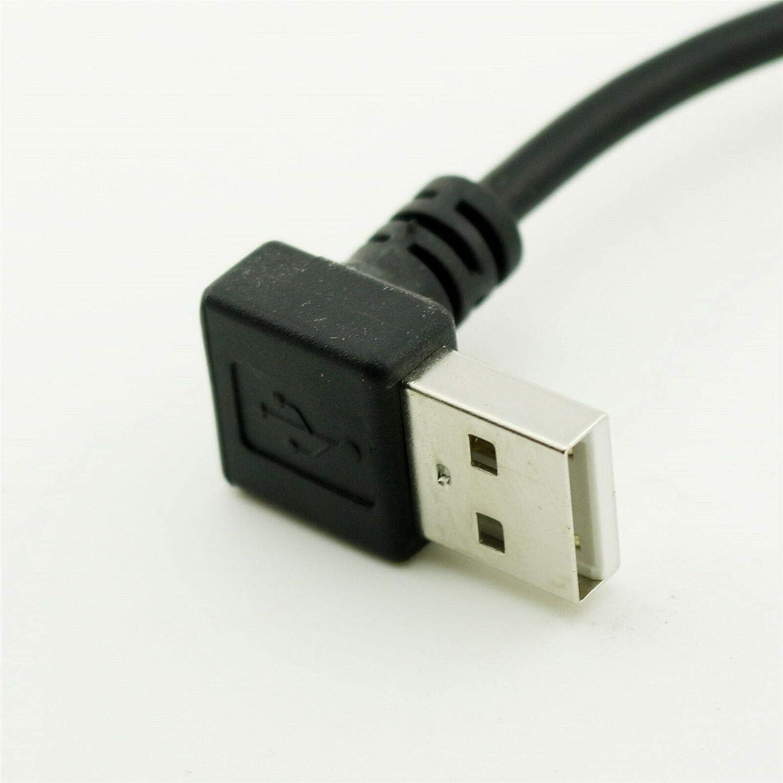 FidgetGear USB 2.0 A Male Down Angle to Mini USB Male Down ANG Data Charging Cable 25cm