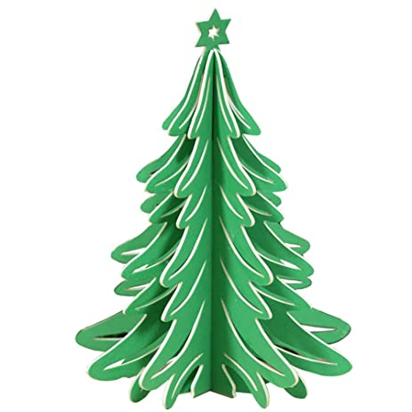 3d paper christmas tree party decorations 15 x 21 cm - Paper Christmas Tree Decorations