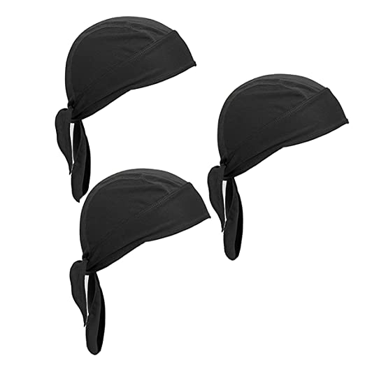 dae9695d5d350 Netursho Sweat Wicking Beanie Cap Skull Cap Outdoor Head Wrap for Men and  Women Pack of