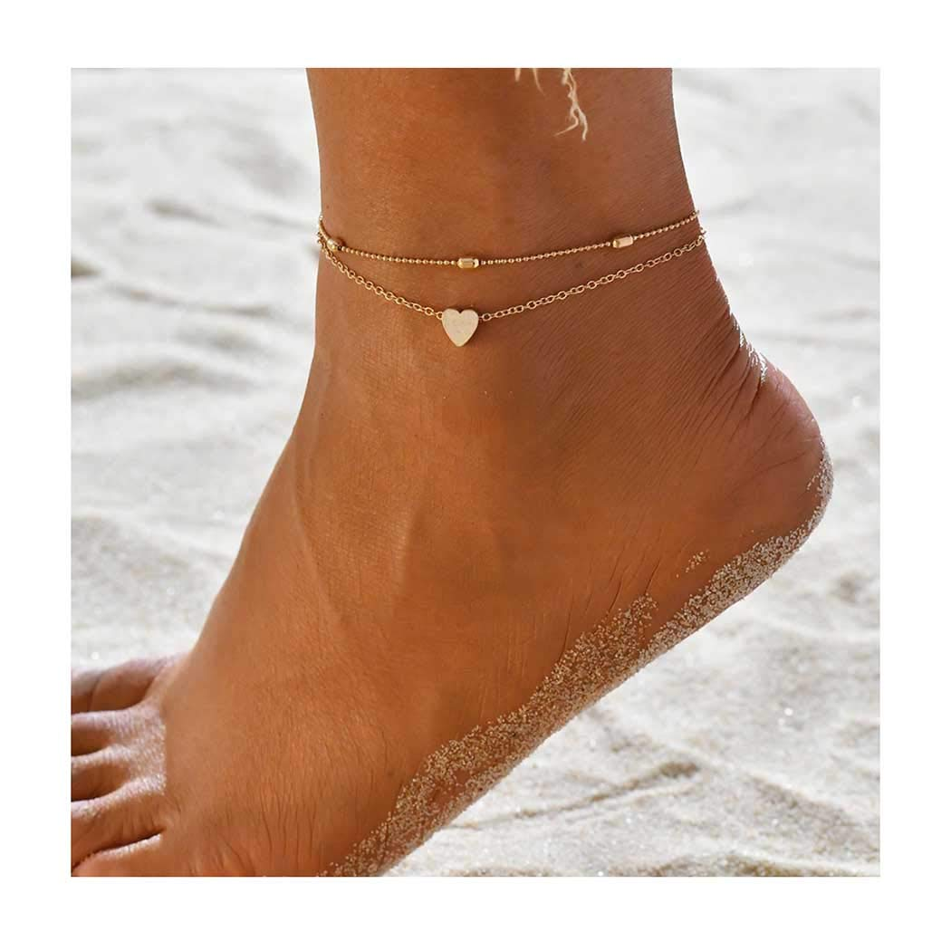 Edary Beach Heart Anklet...