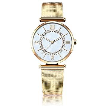 Zxzays Relojes Moda Mujer Pulsera Cuarzo Relojes de Pulsera Cristal Diamante,Oro: Amazon.es: Deportes y aire libre