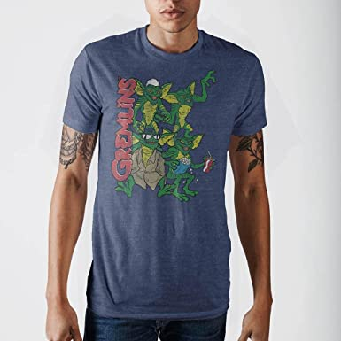 ece5b94d52b Amazon.com  Bioworld Gremlins Group Navy Heather T-Shirt-XXL  Clothing