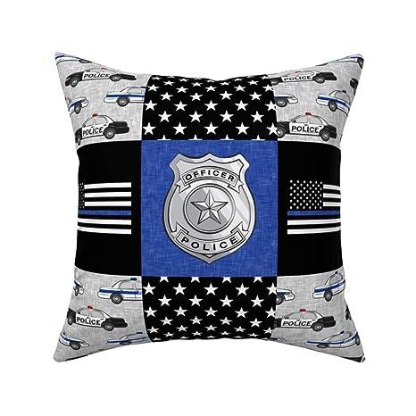 Einst Police Patchwork Thin Blue Line Blue ChevronThrow ...