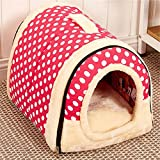 Multifuctional Dog House Nest with Mat Foldable Pet Cat Bed For Small Medium Dogs Travel Bag Product Review