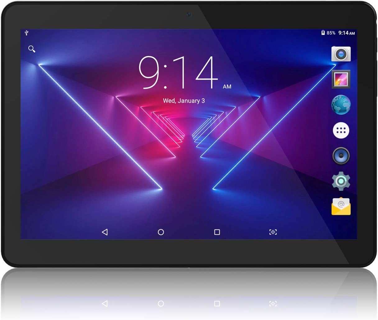 """Tablet 10 inch Android 8.1 Go, 10.1"""" 5G WiFi Tablets,6000mAh Battery,Quad-Core Processor, 800x1280 Touch Screen Full HD Display,1.3GHz,16GB, Bluetooth,Black"""