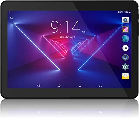 Amazon Com Tablet 10 Inch Android 8 1 Go 10 1 5g Wifi Tablets 6000mah Battery Quad Core Processor 800x1280 Touch Screen Full Hd Display 1 3ghz 16gb Bluetooth Black Computers Accessories