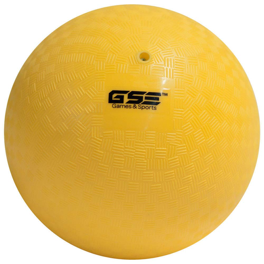 GSE Games & Sports Expert 8.5-inch Classic Inflatable Playground Balls (7 Colors Available) (Yellow)