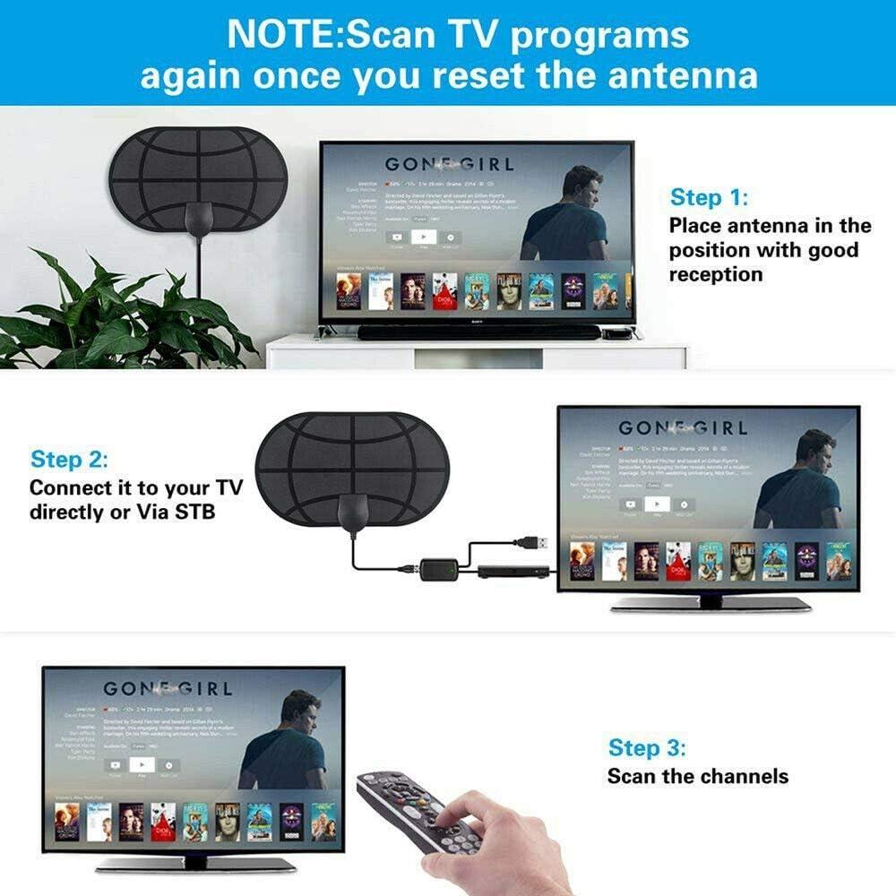 BangHaa Antena HDTV, antena de TV de alta definición HDTV más ...