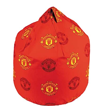 Surprising Manchester United Football Club Mufc Red Crest Bean Bag With Creativecarmelina Interior Chair Design Creativecarmelinacom