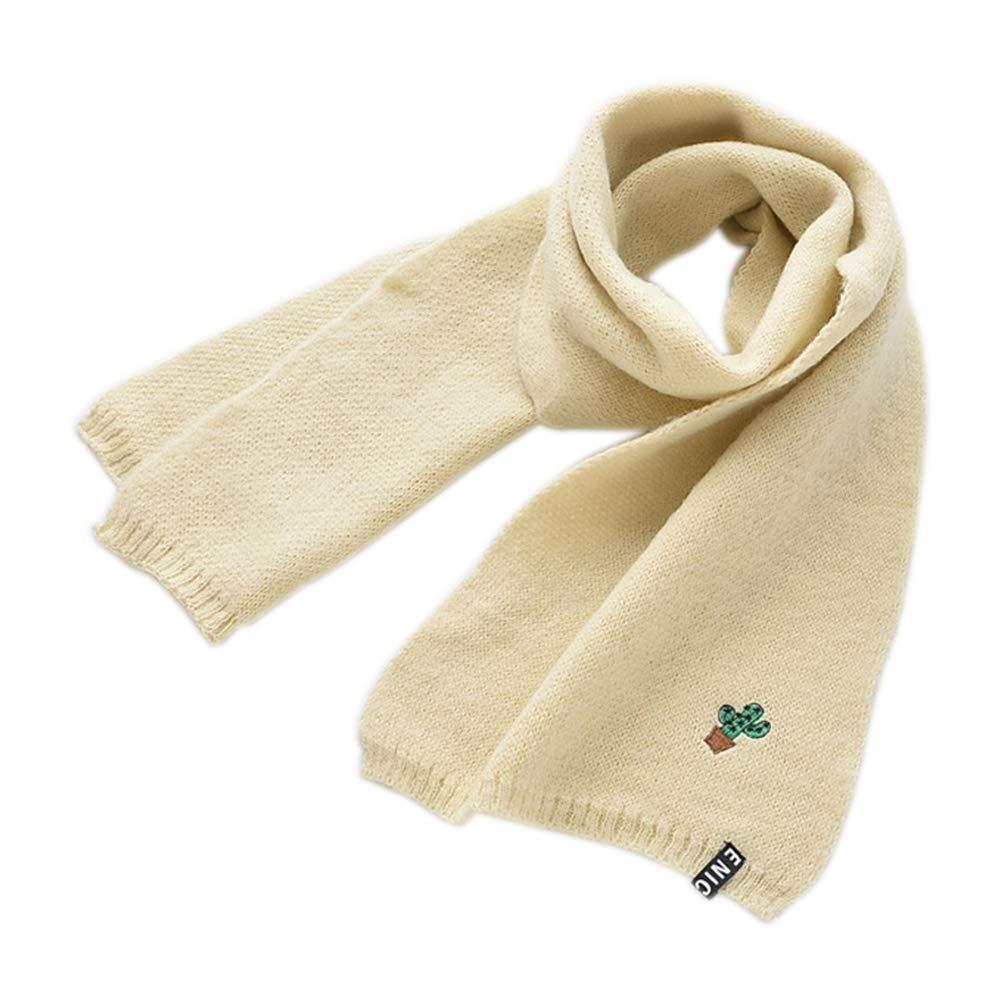 Daliuing Baby Girls Boys Scarf Fashion Cactus Embroidery Knit Neckerchief Winter Autumn Collar Comfortable Neck Warmer Gift at Christmas Birthday