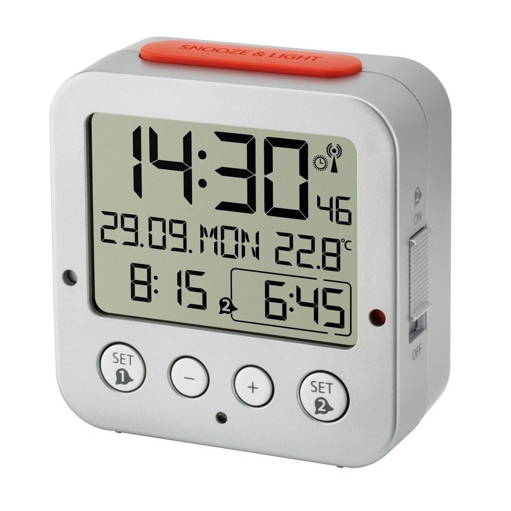 turquoise TFA Dostmann 60.2528 BINGO R/éveil /électronique avec 2 alarmes