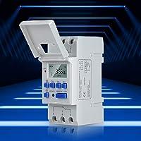 Elektronisk Relä Timer, AC 220V Skenmonterad Timer, Veckans Programmerbar Digital LCD-skärm Industriell Timer, 16…