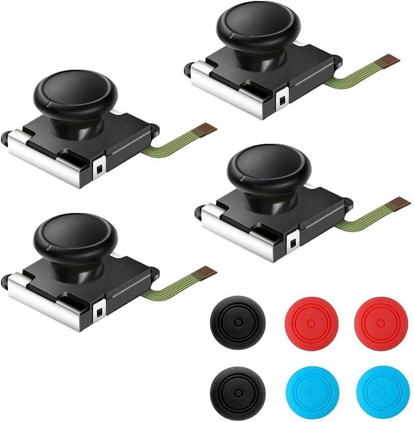 Thlevel Joystick Analógico para Nintendo Switch Joy-con, Joystick Analógico Derecho e Izquierdo de Repuesto para Controlador Rocker de Nintendo Switch NS Joy-con (4PCS)