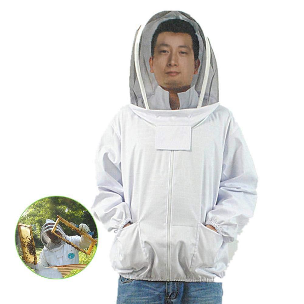 Bienenzucht-Schutzkleidung mit Schleier Imker-Kapuzenjacke f/ür die Imkerei im Garten Lucky-all star Imkerjacke mit selbsttragendem Schleier