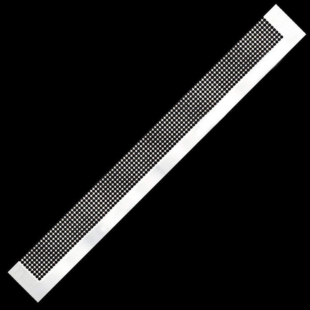 JWBOSS Cr/éatif Net Souverain Diamant Peint R/ègle 50 Grilles 141mm Traitement De Haute Pr/écision H/ôtel Acier Inoxydable Pratique