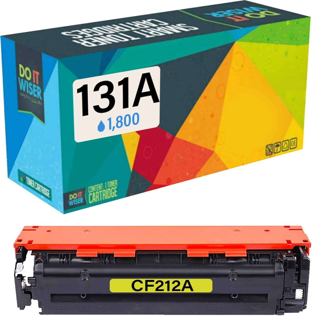Do it Wiser Compatible Toner Cartridge Replacement for HP 131A CF212A CF212X HP Laserjet Pro 200 Color M251nw MFP M276nw M251n M276nw Canon MF8280Cw 7100CN 7110CW LBP7100C (Yellow)