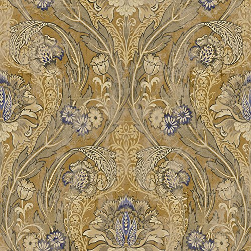 Mayflower Wallpaper Morissey Gold Blue Green Classic Posh Arts Crafts