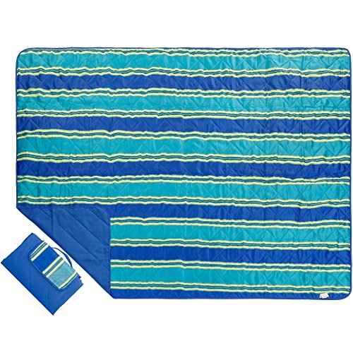 (Outdoor Blanket Extra Large Picnic Blanket Water-Resistant and Sand Proof Beach Blanket- Compact Mat Folds into a Tote Bag for Traveling-78