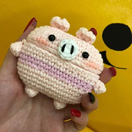 Little Duck MIRKOO Cute AirPods Pro Case Cover Knitted Silicone Handmade Protective Case Cover for AirPods Pro Charging Case