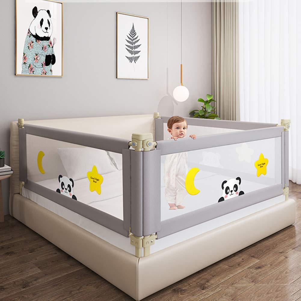 cerco de seguridad para ni/ños y beb/és Valla de seguridad para beb/é Wuraxy Bed Valla a prueba de ca/ídas bisel universal anticolisi/ón para cama de dibujos animados gris gris Talla:180cm