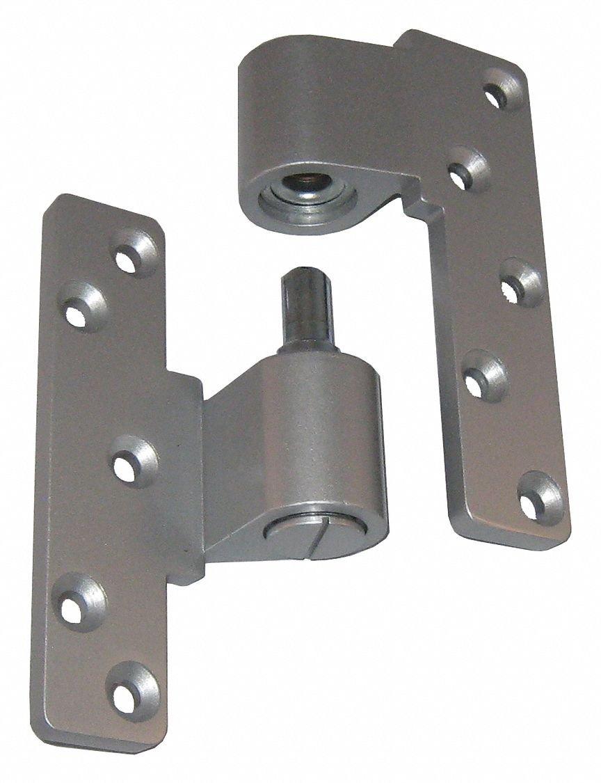 Clear Aluminum KABA ILCO Cast Aluminum Pivot Hinge,Left Hand IP-10-LH-AL