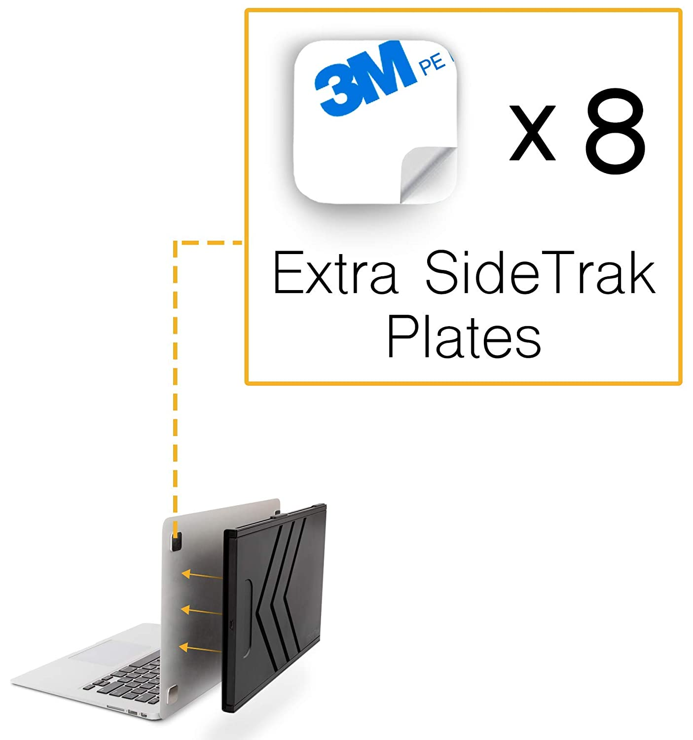 SideTrak Metal Plates for Laptop - Add On/Replacement Plates Only - Compatible with SideTrak Portable Monitor - 2 Sets of Metal Plates (8 Plates Total)