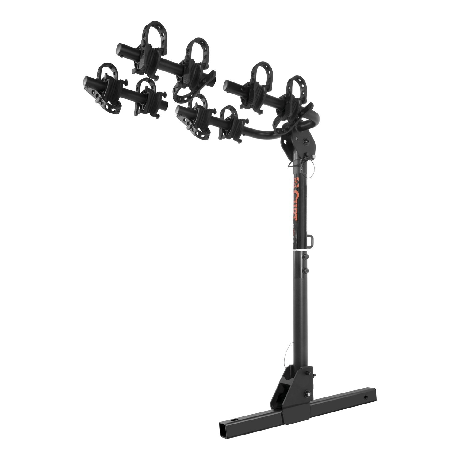 CURT 18031 Towable Extendable Hitch Bike Rack, 2 or 4 Bikes, Fits 2-Inch Receiver, 2,000 lbs. GTW by CURT