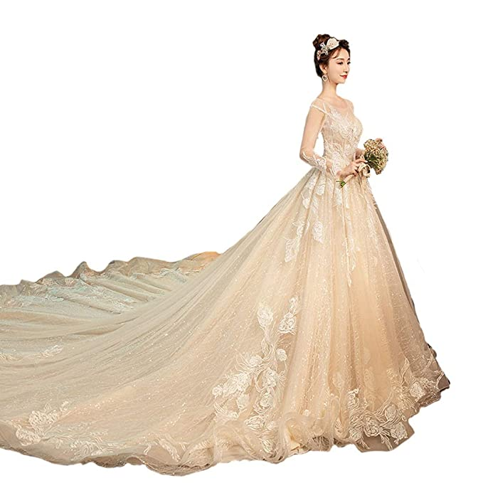 Vestidos de novia con cuello redondo