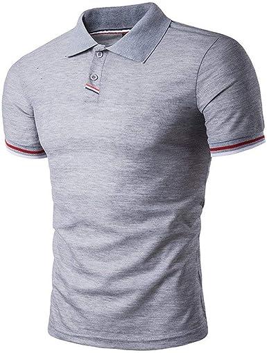 Camiseta De Hombre/Camisa De Polo/Mode De Summer Marca Fashion Bolsillo Solapa Poloshirt Slim Fit Camisa De Polo De Manga Corta Informal Tops: Amazon.es: Ropa y accesorios