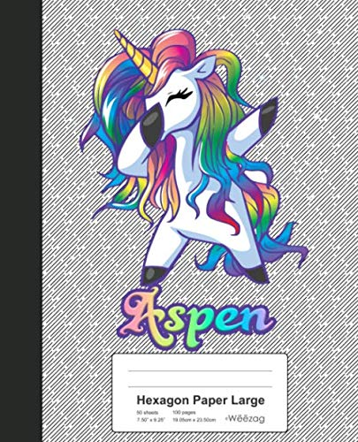 - Hexagon Paper Large: ASPEN Unicorn Rainbow Notebook (Weezag Hexagon Paper Large Notebook)
