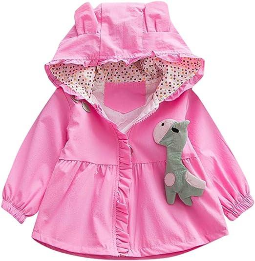 kaiCran Toddler Baby Boys Girls Cotton Cartoon Ear Hooded Coat Long Sleeve Casual Outerwear Jacket
