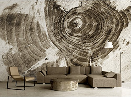 (Mbwlkj 3D Photo Wall Paper Custom Vintage Tree Ring Circle Wallpapers Non Woven Embossed Bedroom Restaurant Kitchen)