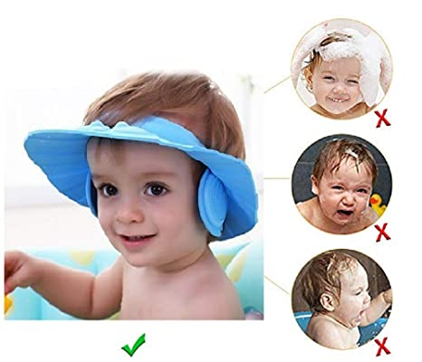 150150973ab You God New Safe Soft Wash Hair for Children Baby Eye Ear Protector  Adjustable Leaves Shape