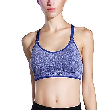 Libella Mujer Sujetador Deportivo Push Up Bustier con Amplio Correas Fitness Yoga Camisetas Sin Mangas 3714: Amazon.es: Ropa y accesorios