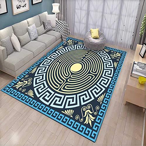 Labyrinth Costumes Patterns - Greek Key Extra Large Area Rug