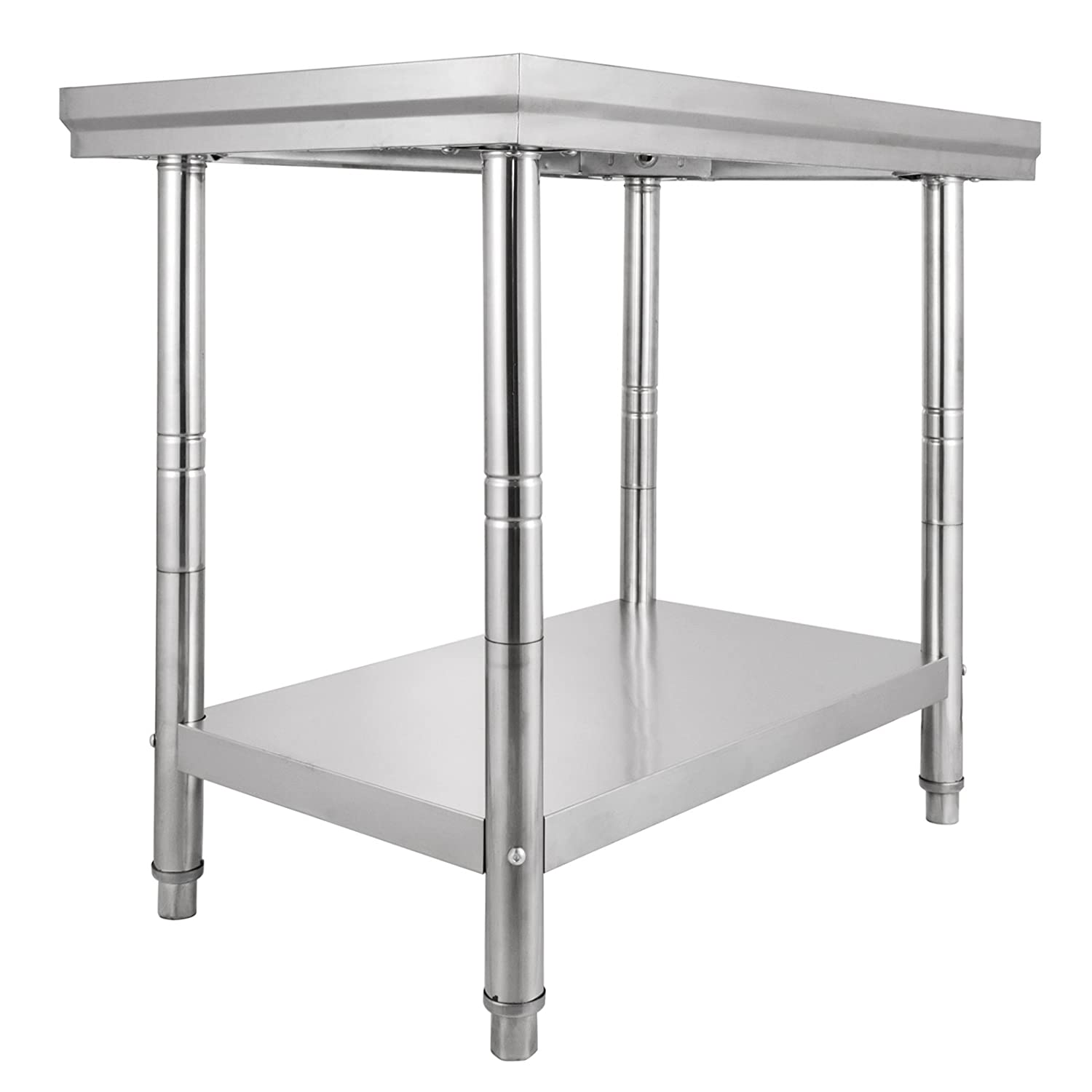 Hopopular Stainless Steel Work Table 2FT x 4FT Work Bench Prep Work Table for Commercial Kitchen Restaurant (2FT X 3FT)