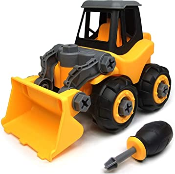 Boys /& Girls Aged 3 Ideal Educational Toy for Toddlers 5 Building Vehicle Play Set with Screwdriver WisToyz Take Apart Toys Toy Vehicles 4 Assembly Toy Excavator with Constructions Set 6