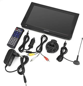Televisor portátil, reproductor multimedia portátil 1080P negro TV digital portátil soporta U-Disk tarjeta TF MKV MOV AVI WMV MP4 formato MP3: Amazon.es: Electrónica