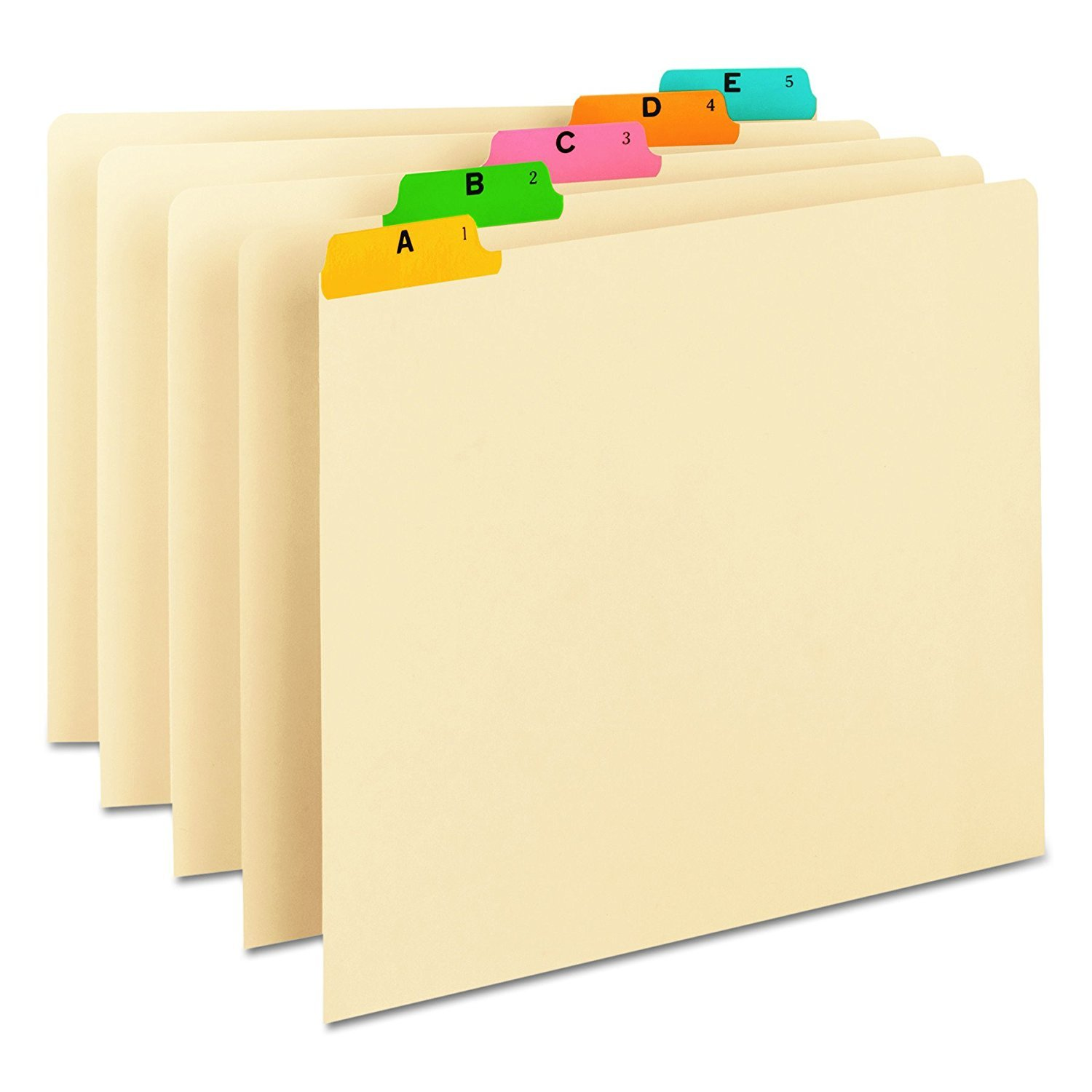 Smead 50180 Recycled Top Tab File Guides, Alpha, 1/5 Tab, Manila, Letter (Set of 25) (3 SETS OF 25)